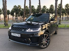rental car photo Land Rover Range Rover Sport 2018, Черный Car&Go companies in Sochi